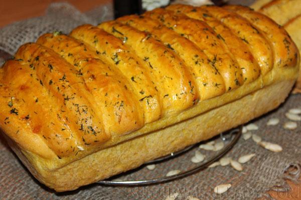 Тыквенный хлеб с укропом