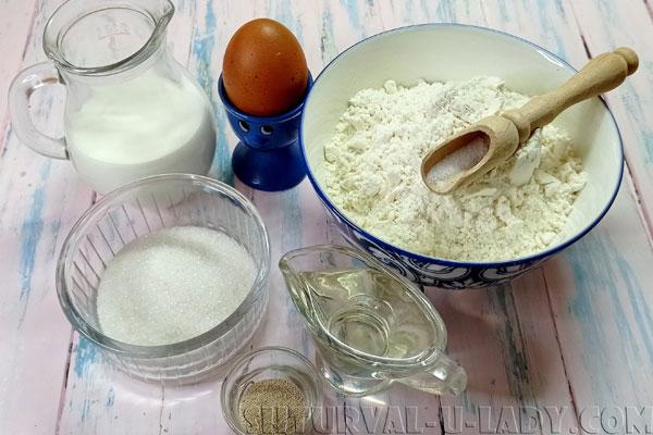 Набор продуктов для булочек с начинкой
