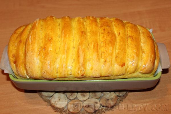 Тыквенный хлеб после выпечки