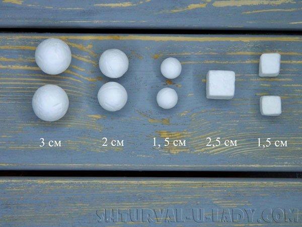 Заготовки из пенопласта для игрушки