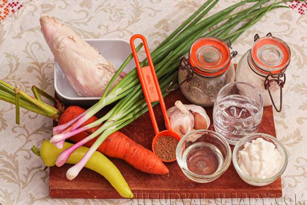 Набор ингредиентов для салата Петергоф