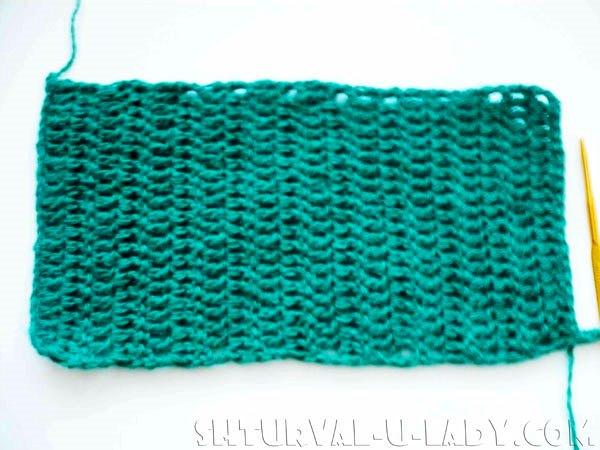 Полотно крючком вязаное