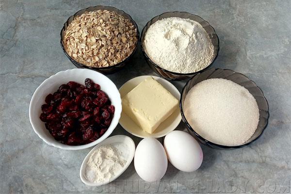 Ингредиенты для овсяного печенья домашнего