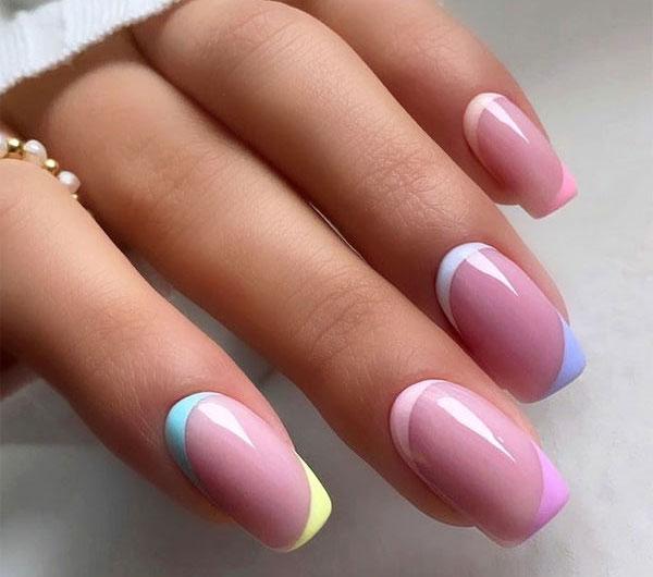Красивый дизайн ногтей в сиреневых тонах