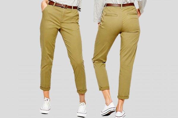 "Фасон брюк ""Чинос"": вид спереди и сзади"