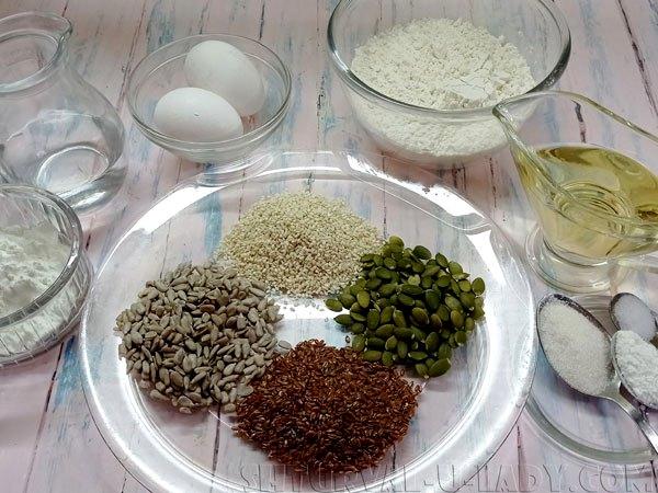 Необходимые ингредиенты для печенья злакового