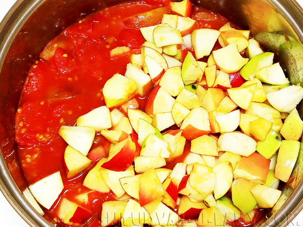 Яблочно-помидорная масса