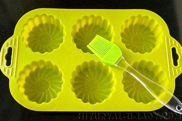 Форма для кексов, кисточка из силикона