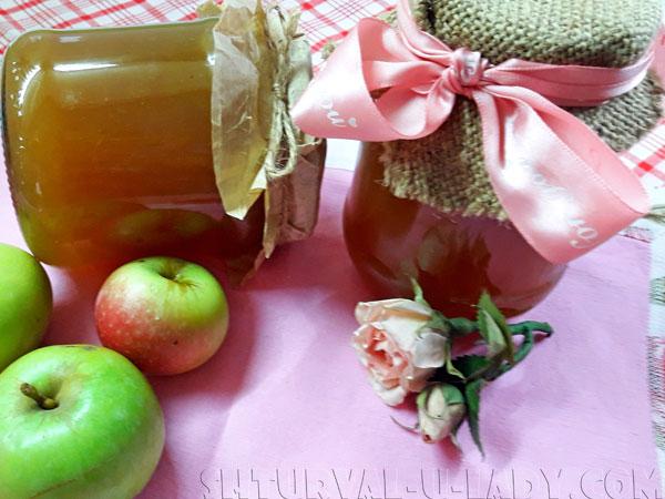 Баночки с повидлом, яблоки